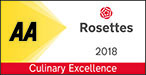 AA 2 Rosettes 2018 - Culinary Excellence