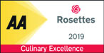 AA 2 Rosettes 2019 - Culinary Excellence